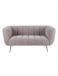 Sofá de 2 plazas con tejido...