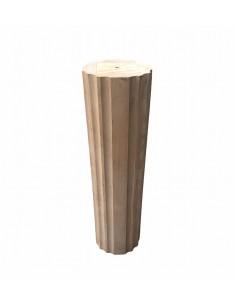 Columna de madera maciza