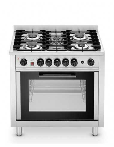 Cocina de gas 5 fogones con horno...
