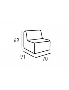 Sofá módulo central -...